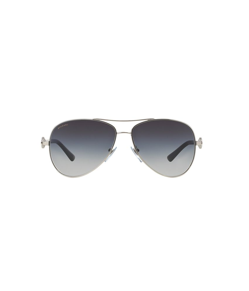 Bvlgari Gray Metal Designer Uv Protection Sunglasses For Men