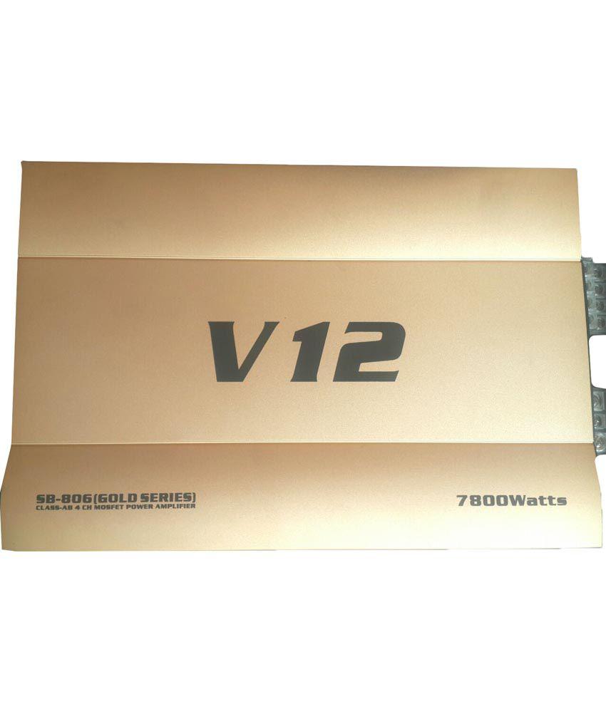 V12 Golden Car Amplifier Sb-806: Buy V12 Golden Car