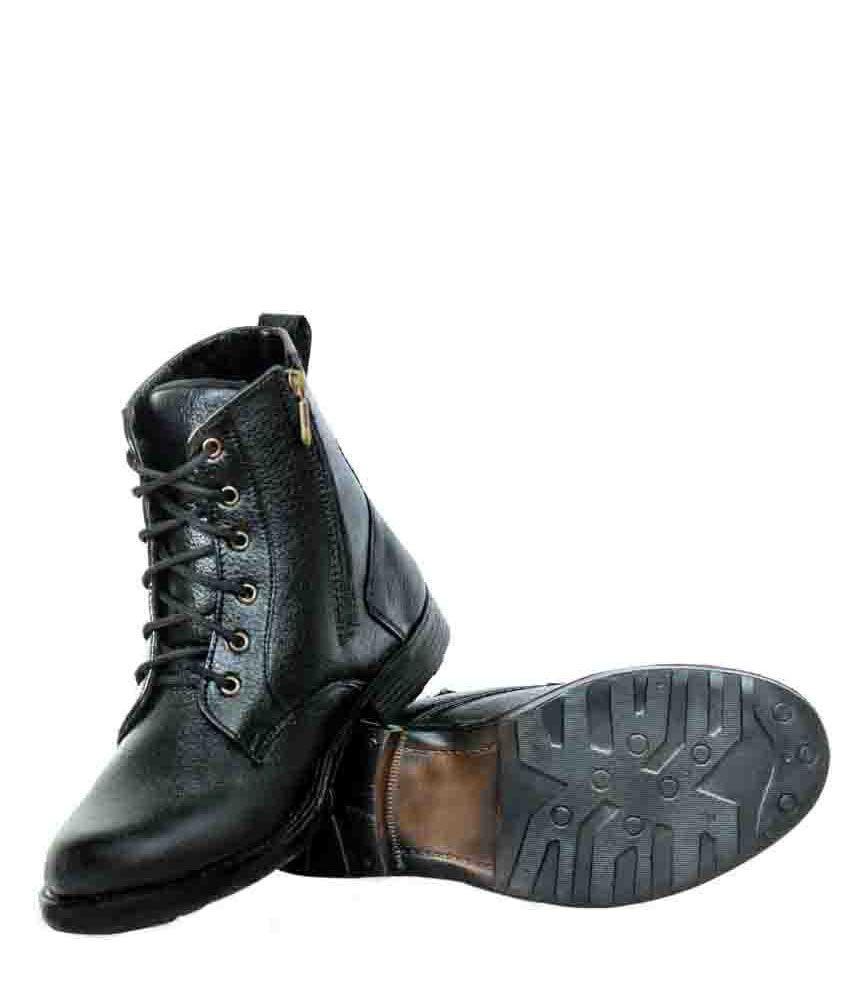 Elvace Black High-ankle Men's Boots - Buy Elvace Black High-ankle ...