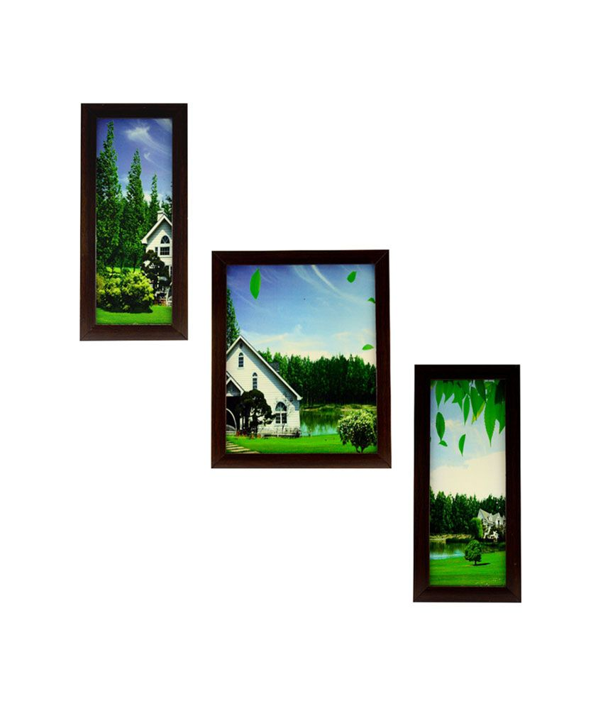 Indianara Lush Countryside Framed Wall Hanging - Set Of 3