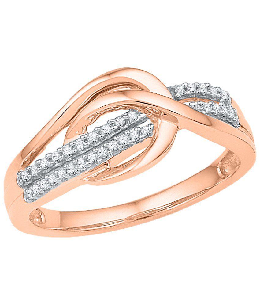 Sri Jagdamba Pearls Shimmering Noble Rose Gold 18kt Diamond Ring