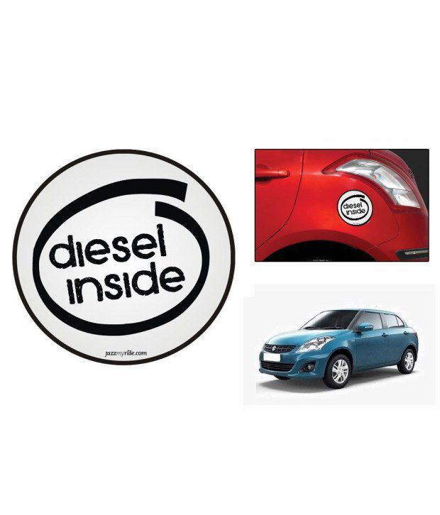 Speedwav Quirky Car Fuel Lid Sticker Diesel Inside Round-Maruti