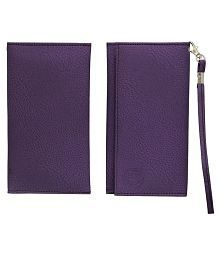 Jo Jo A5 G8 Leather Universal Pouch Cover For Samsung E2652 Champ Duos Purple for sale  Delivered anywhere in India
