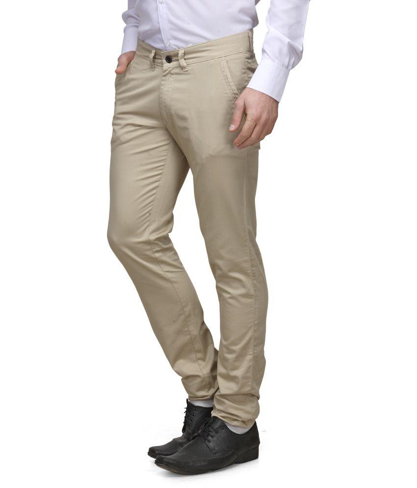 Canary London Beige Cotton Trouser