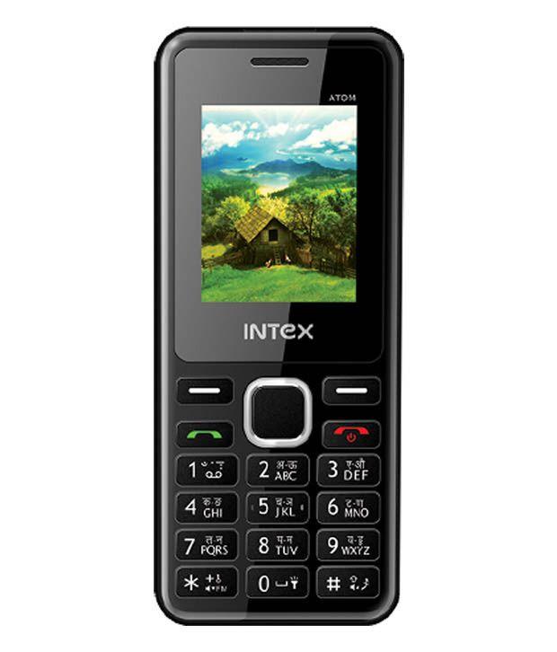 Intex Atom Mobile Black