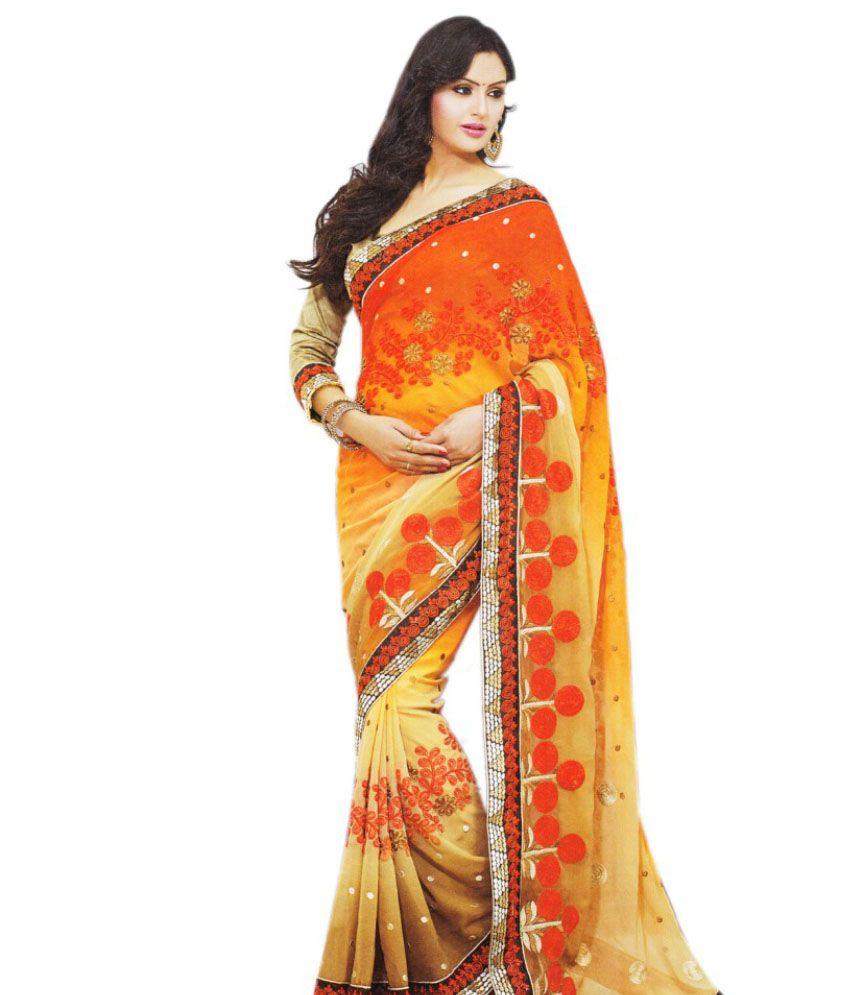 30062159ce Laxmi Kripa Multi Color Chiffon Saree - Buy Laxmi Kripa Multi Color Chiffon  Saree Online at Low Price - Snapdeal.com