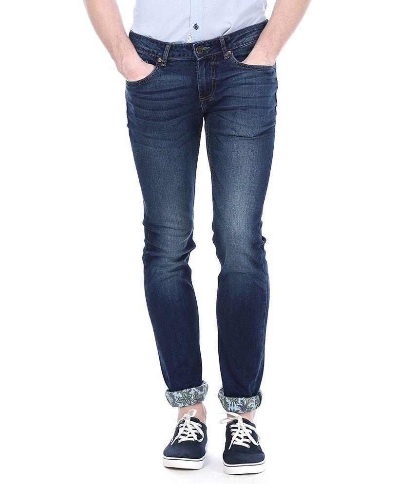 Basics Blue Faded Jeans
