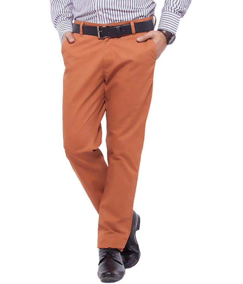 Nrt Maroon Cotton Trouser