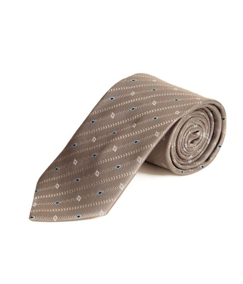The Vatican Grey Striped Tie With Royal Blue, Sky Blue And Cool Grey Diamond Design