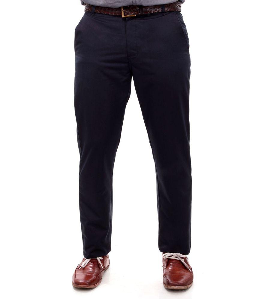 Addiction Cotton Flat Casuals Trouser