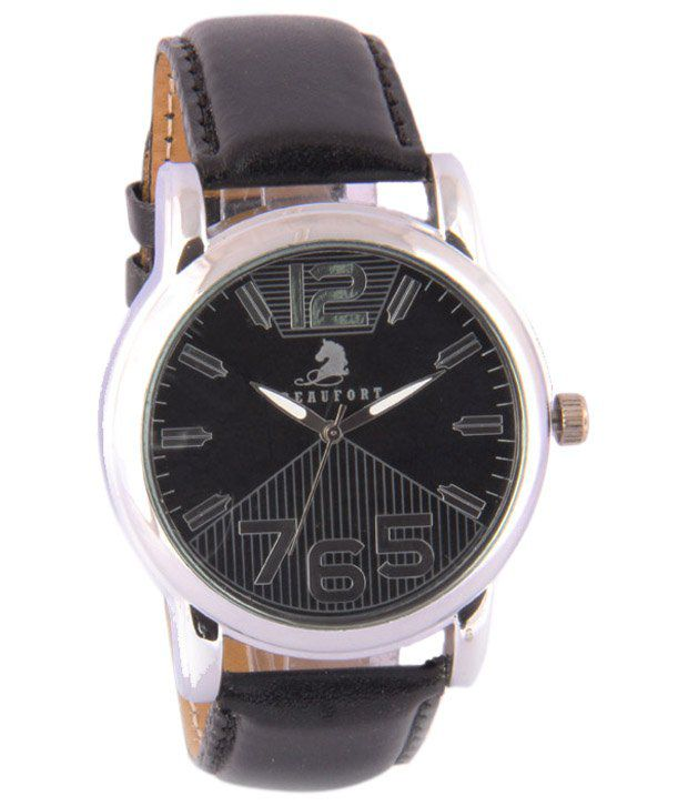 Beaufort Trendy Black Wrist Watch For Men