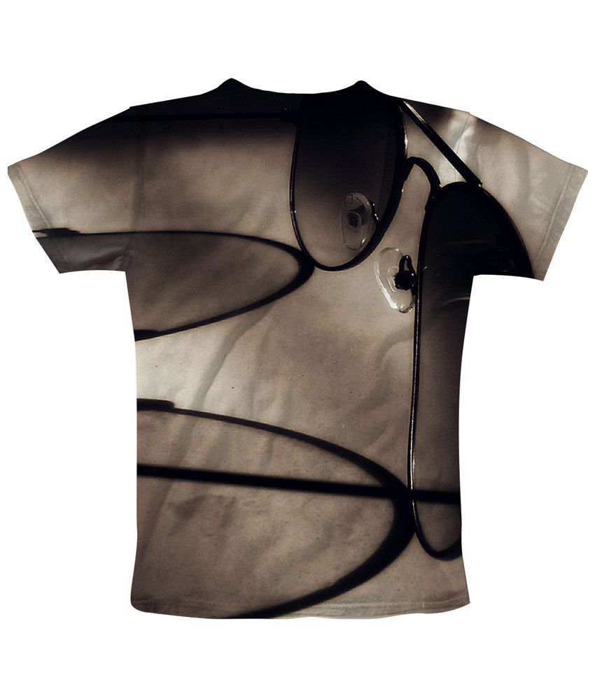 Freecultr Express Black & Gray Spec Show Graphic Half Sleeves T Shirt