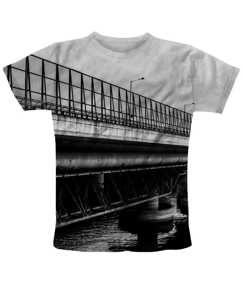 Freecultr Express Charming Black & White Printed T Shirt