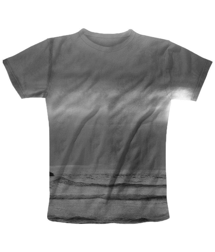 Freecultr Express Fashionable Gray Printed T Shirt