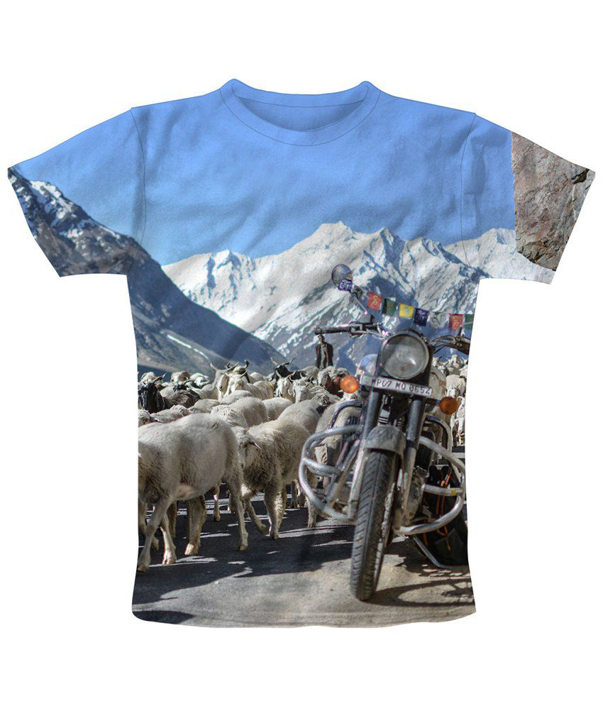 Freecultr Express Graceful Multicolour Counting Sheep Printed T Shirt