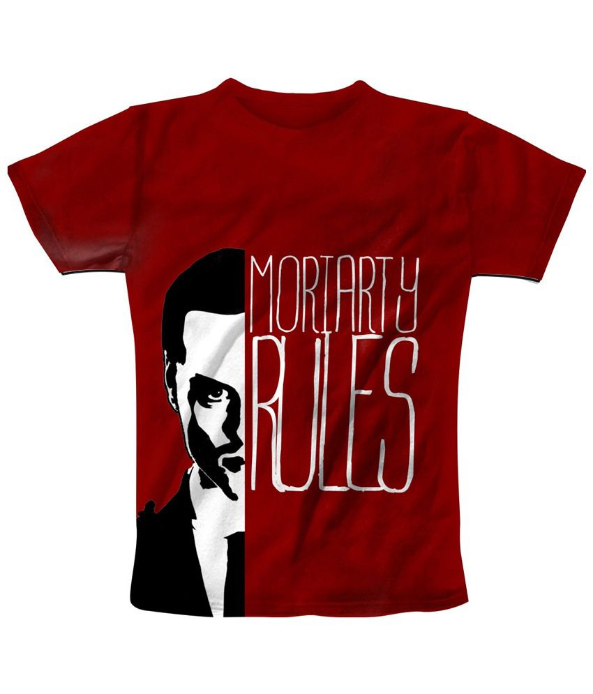 Freecultr Express Maroon & Black Moriarty Graphic Half Sleeves T Shirt