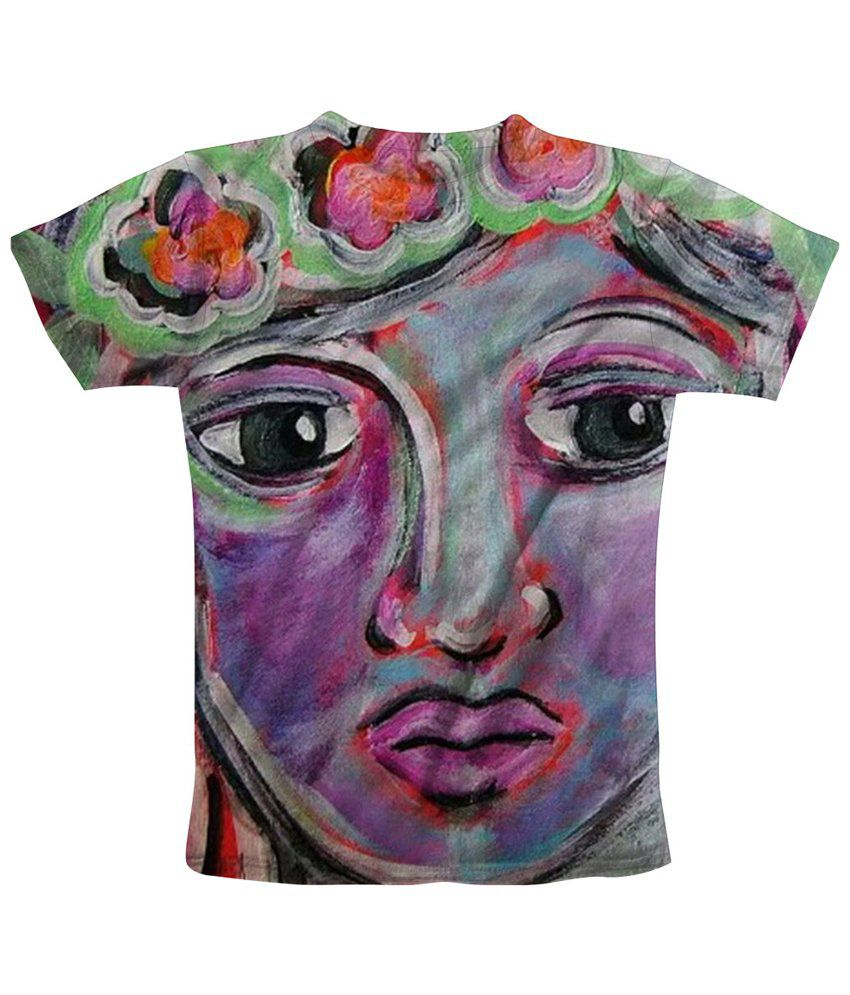 Freecultr Express Nice Looking Multicolour Face Printed T Shirt