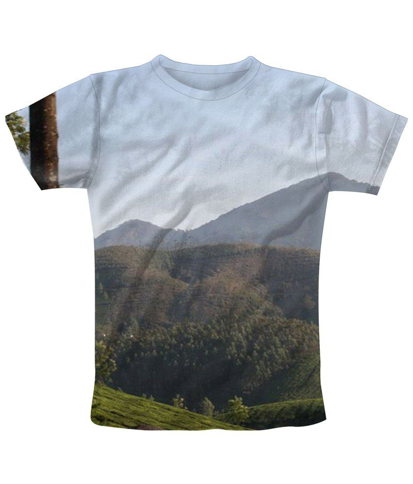 Freecultr Express Stylish Multicolour Valley Printed T Shirt