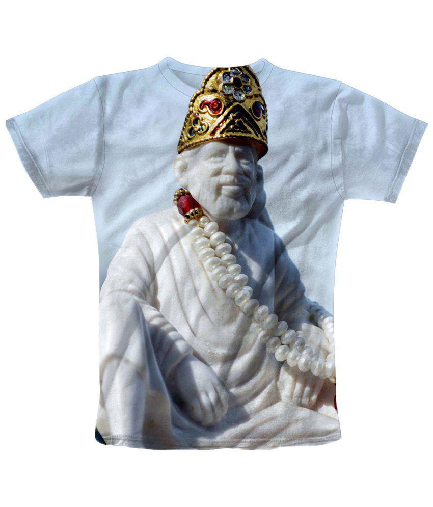 Freecultr Express White & Golden Printed T Shirt
