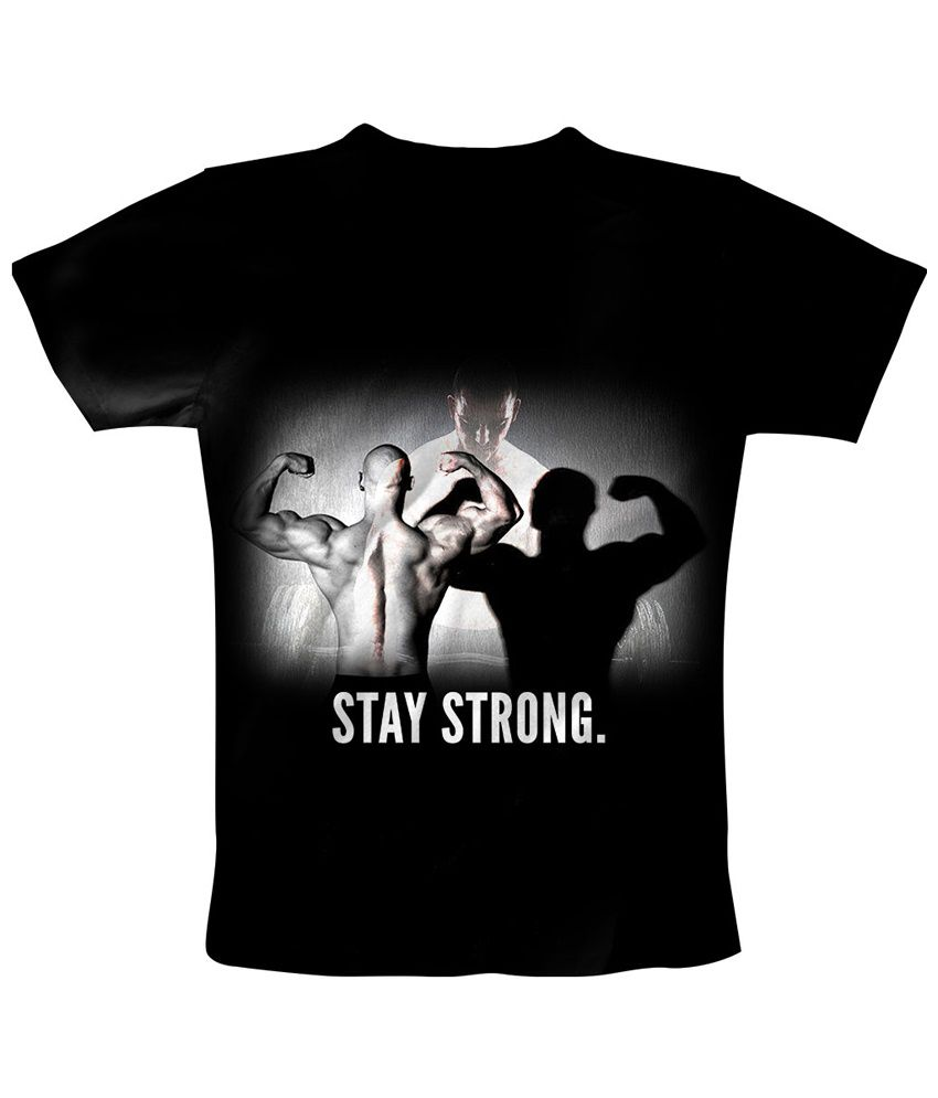 Freecultr Express Black Stay Strong T Shirt