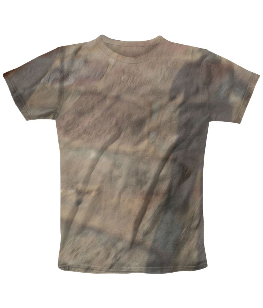 Freecultr Express Gray Shadowing Graphic Half Sleeves T Shirt