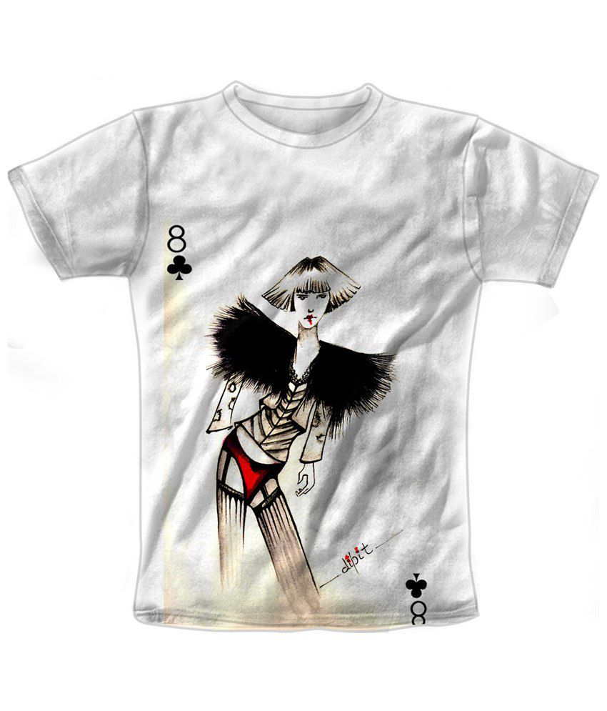Freecultr Express White & Black Lucky 8 Graphic T Shirt