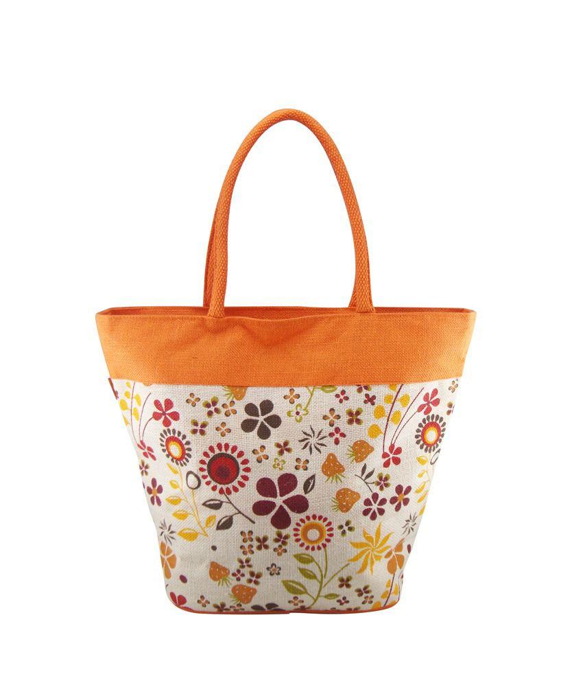 Angesbag Orange Jute Shoulder Bag