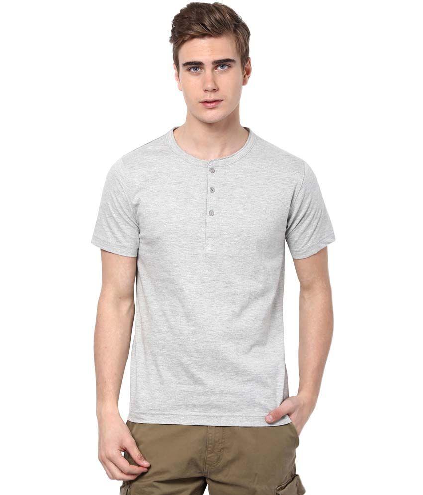 Aventura Outfitters Gray Cotton Blend Henley Shirt