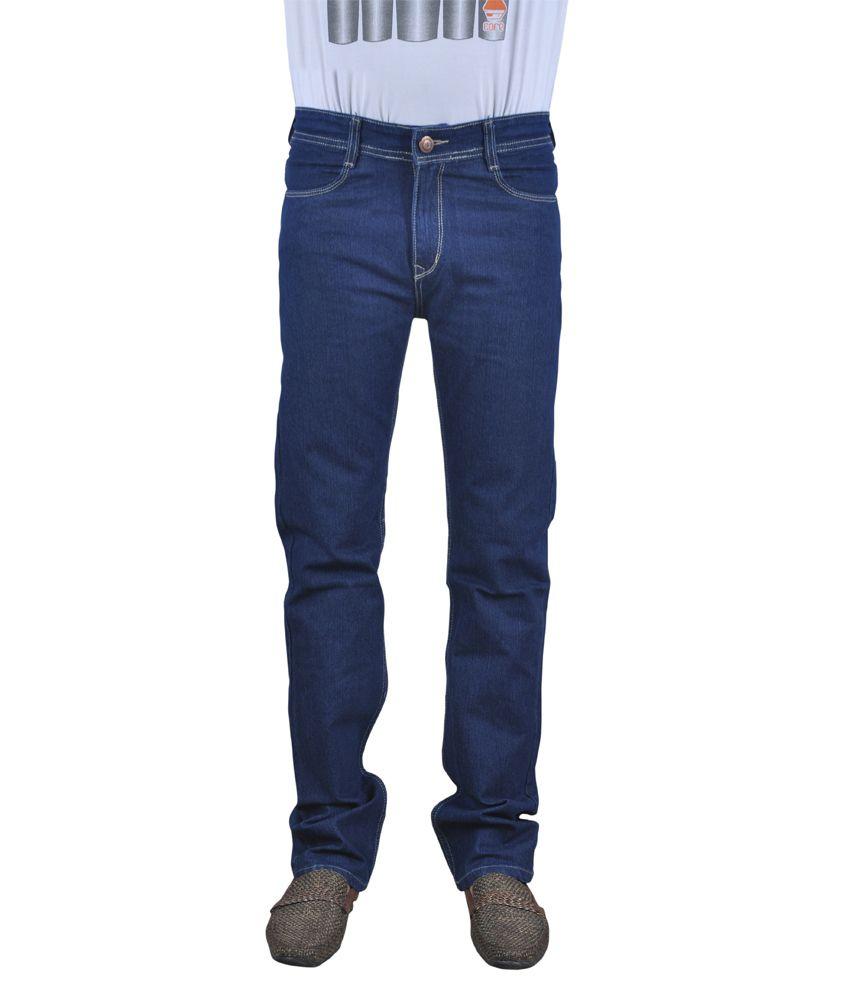 Blue Mont Cotton Straight Regular Blue Jeans