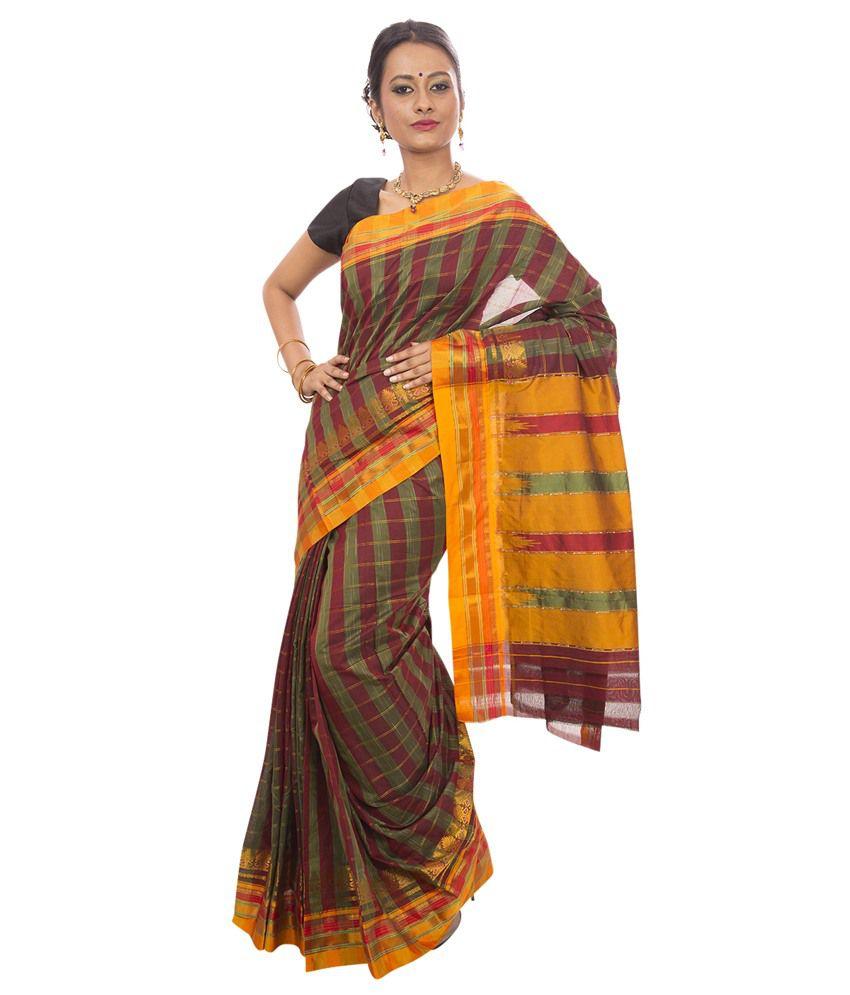 ddeb1d3977650e Dhammanagi Multi Color Cotton Silk Ilkal Saree - Buy Dhammanagi Multi Color Cotton  Silk Ilkal Saree Online at Low Price - Snapdeal.com
