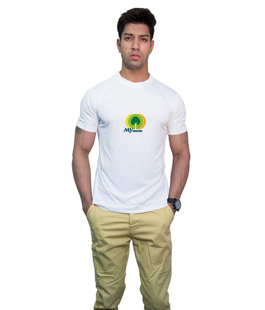 Printland White Printed Half T-shirt