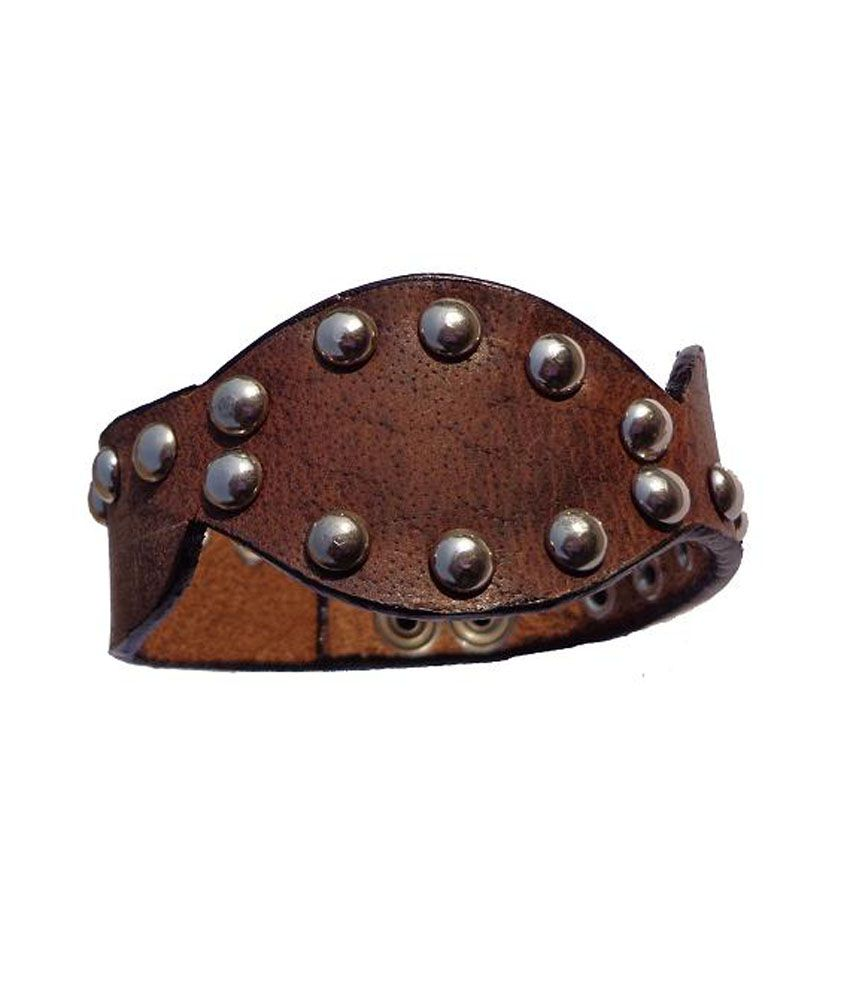 SaddlekingPro Brown Faux Leather Wrist Band