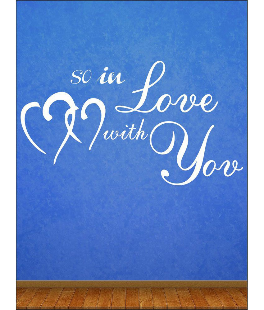 wall1ders love with u white stickers giant buy