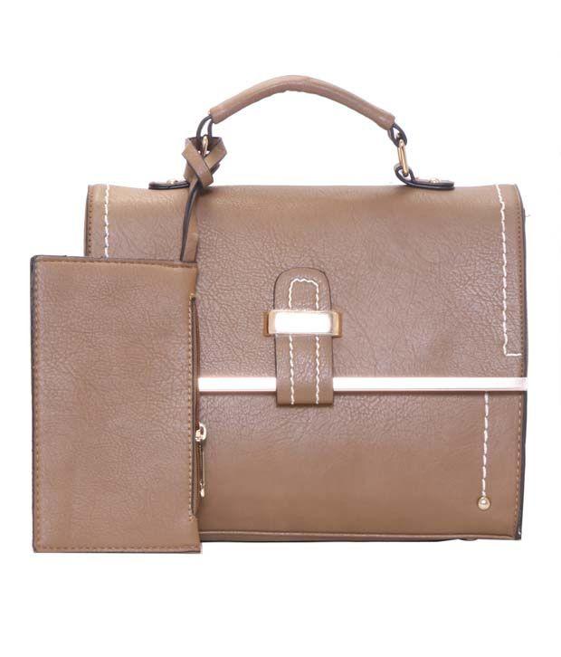 Alibao P.U. Brown Sling Bag