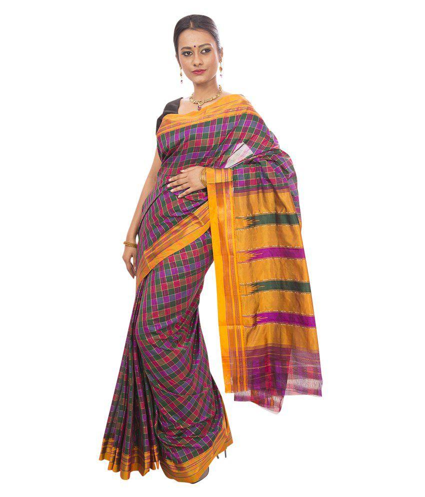 30cfc8329 Dhammanagi Multi Color Cotton Silk Ilkal Saree - Buy Dhammanagi Multi Color  Cotton Silk Ilkal Saree Online at Low Price - Snapdeal.com