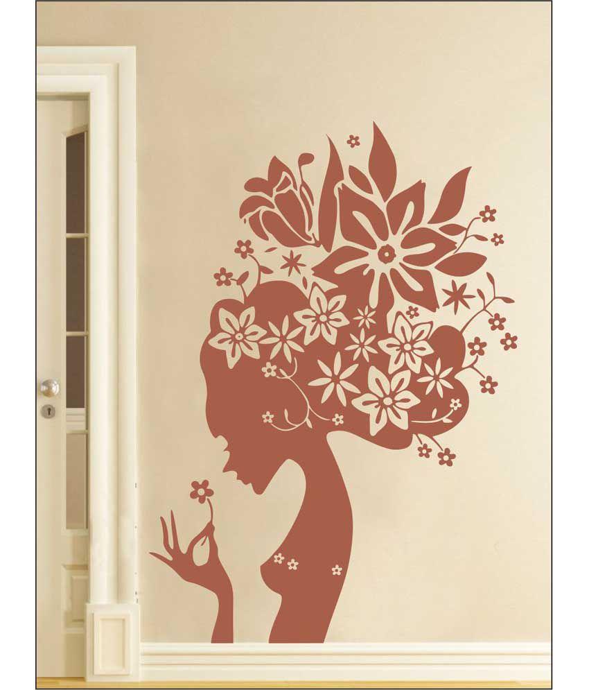 wall1ders flower girl brown stickers giant buy