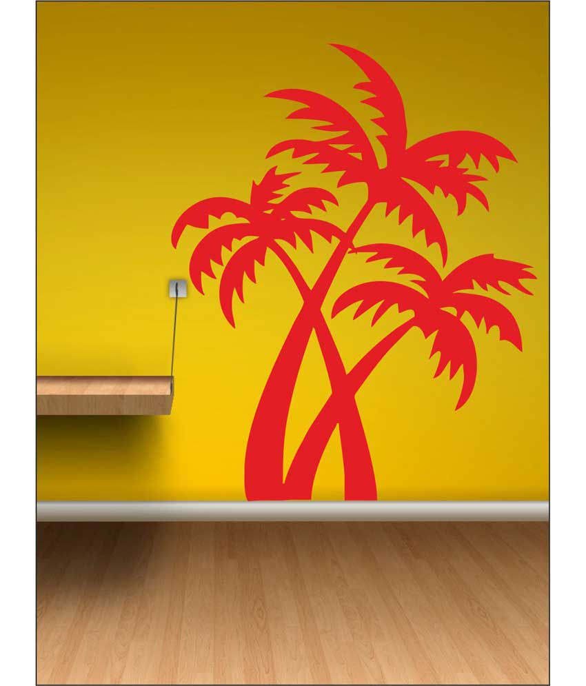 wall1ders palm tree red stickers super buy wall1ders