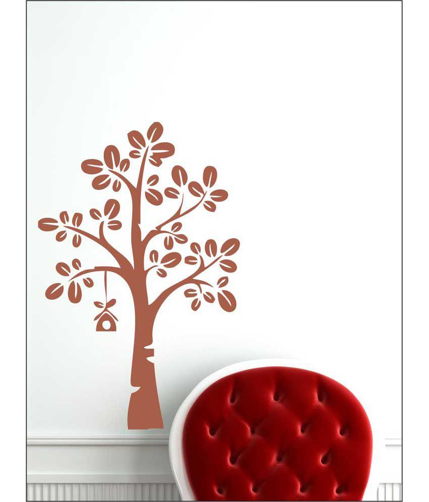 wall1ders tree bird house brown stickers super buy