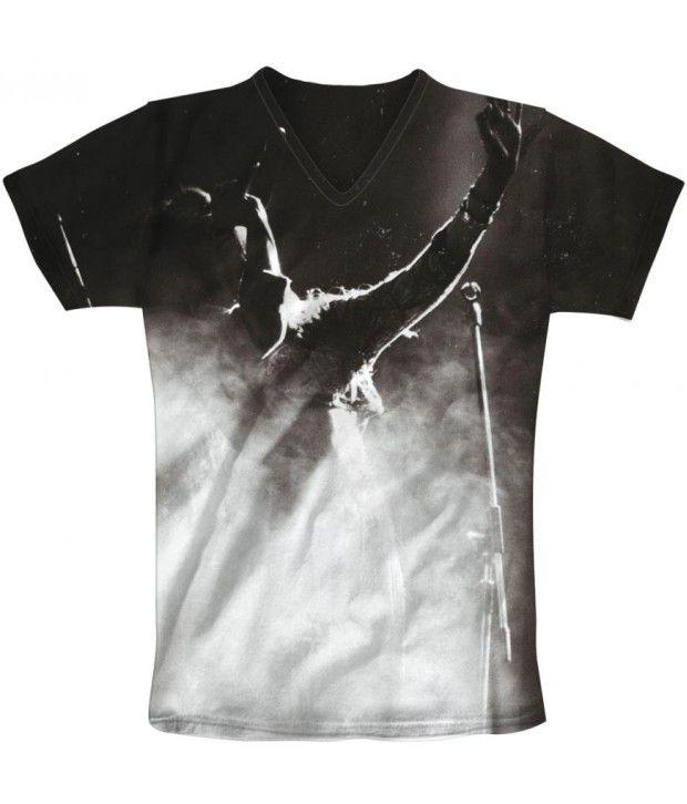 Freecultur Express Black Cotton Blend T-shirt