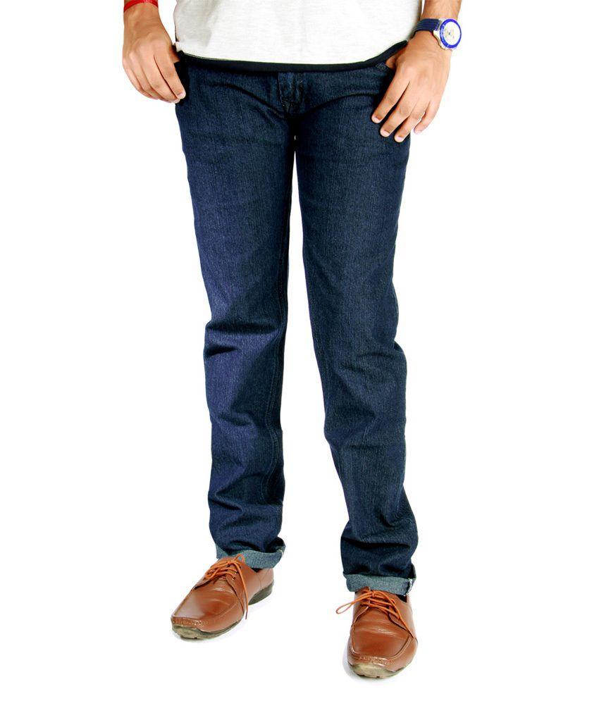 J Marks Blue Cotton Jeans