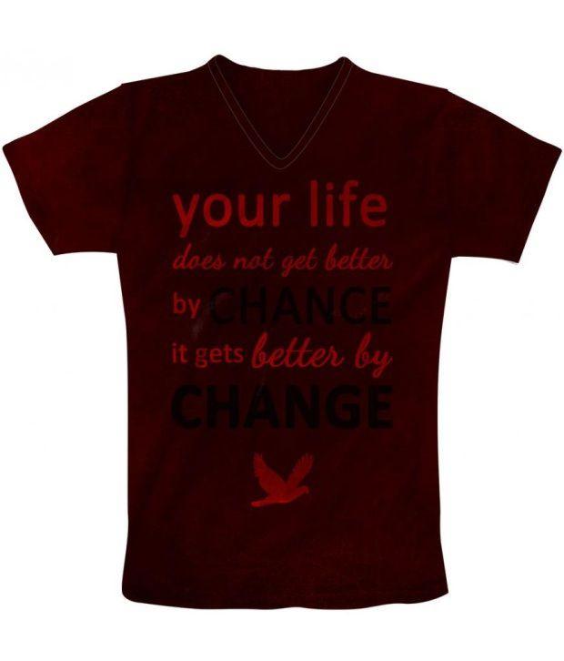 Freecultur Express Brown Cotton Blend T-shirt
