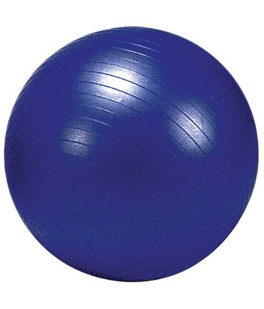Balance Ball Blue: Nivia Blue Exercise Ball With Foot Pump 75Cm-AB-581: Buy