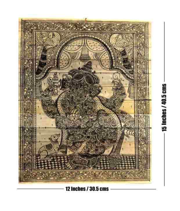 Odisha Handicrafts 108 Ganesha In Ganesha Nritya Painting