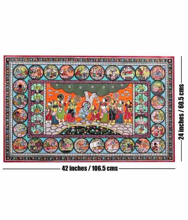 Odisha Handicrafts Pattachitra Krishna Leela Painting