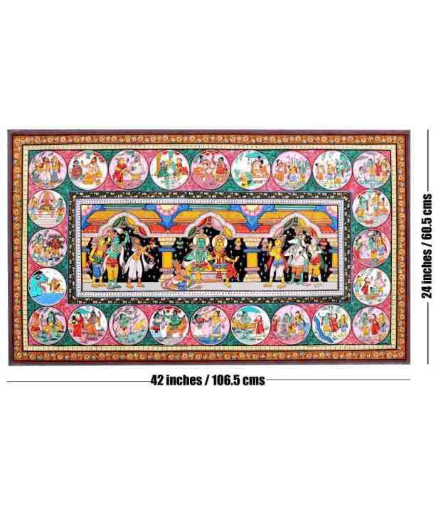 Odisha Handicrafts Ram Rajya Pattachitra Painting