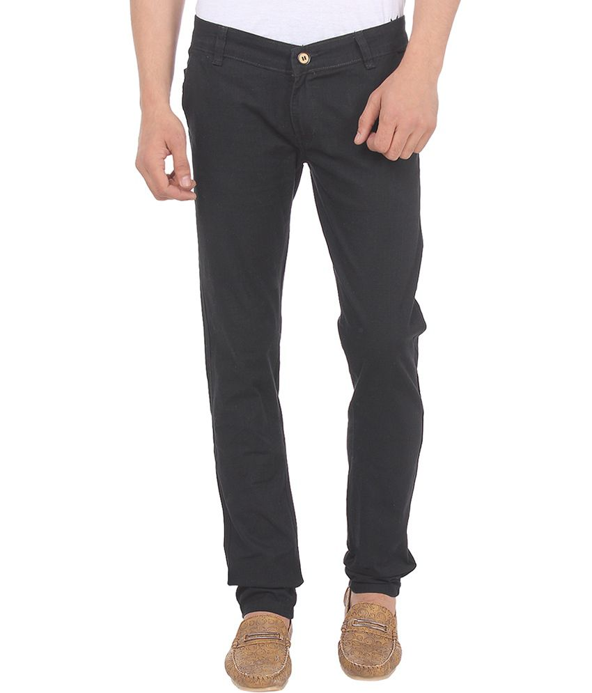 Savon Brown Cotton Chinos for Men
