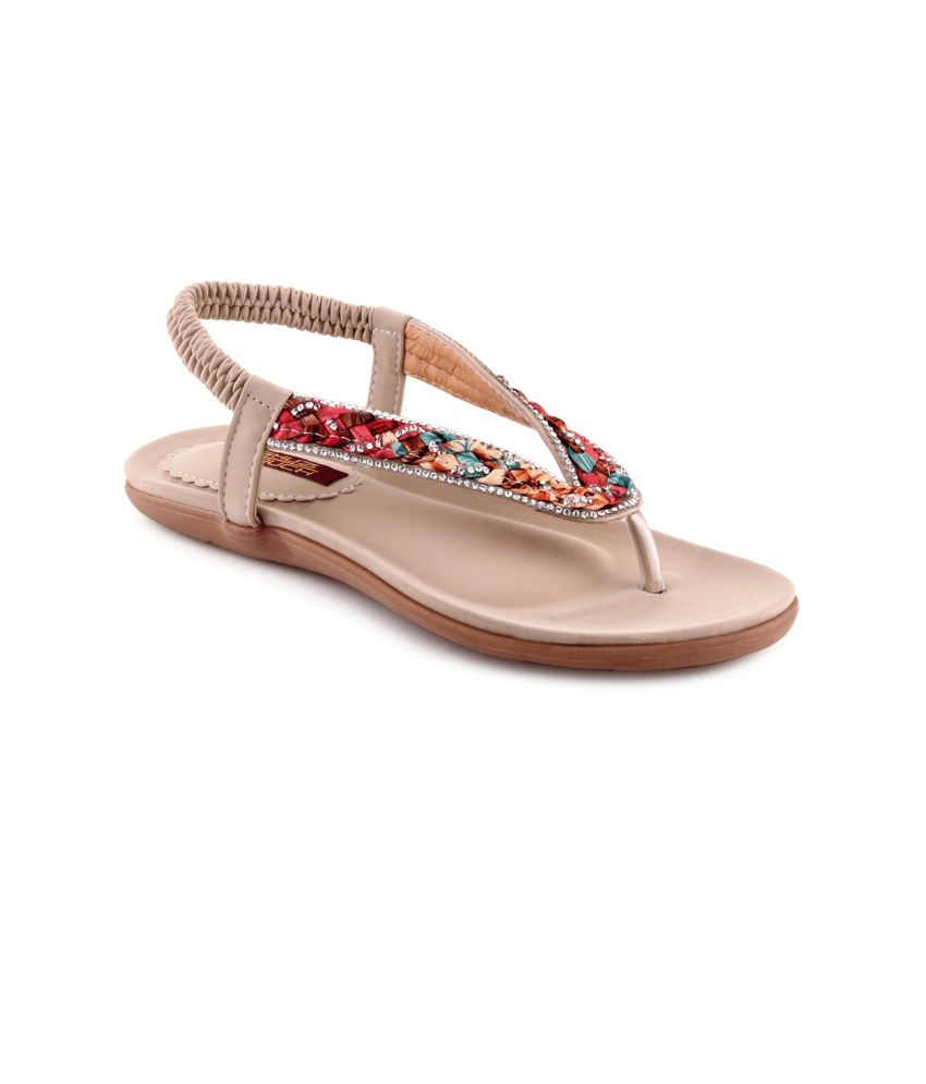Shuztouch Beige Back Strap Sandal
