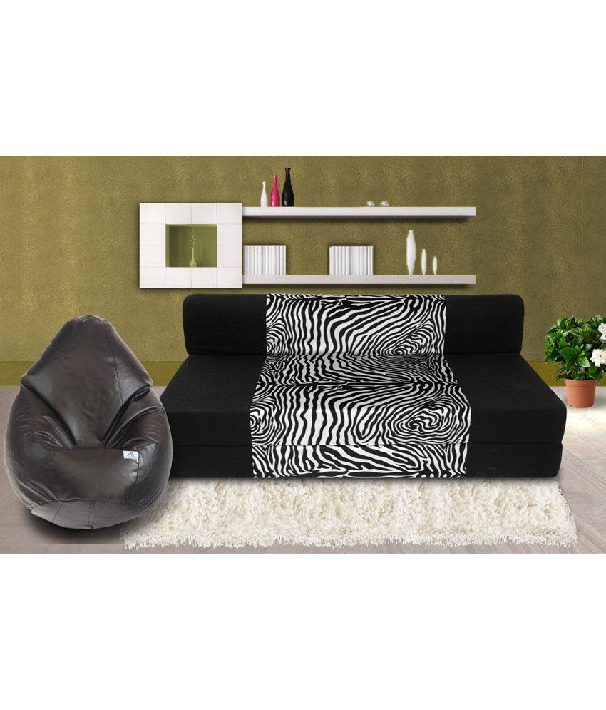 Zeal 3 Seater Sofa Cum Bed With Free Bean Cover Xxl Buy