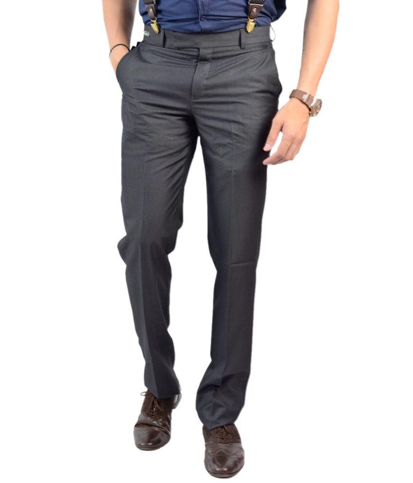 Granite Slim Fit Black Men's Trouser