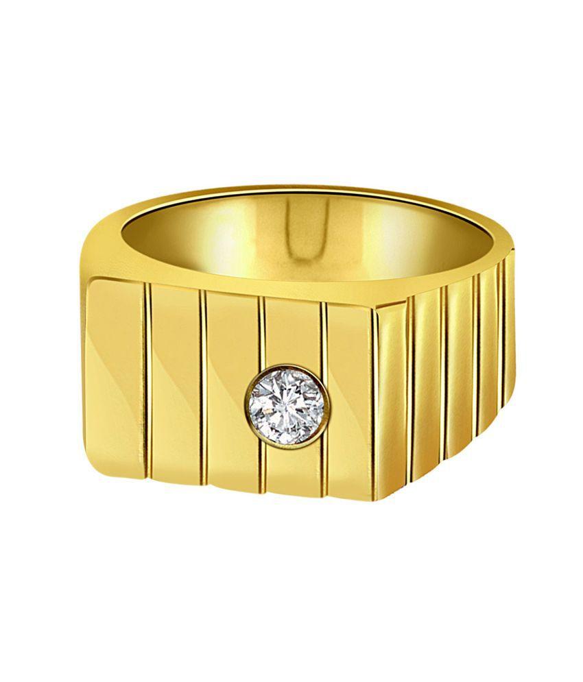 Surat Diamond Traditional Gold & Diamond Mens Ring: Buy Surat ...